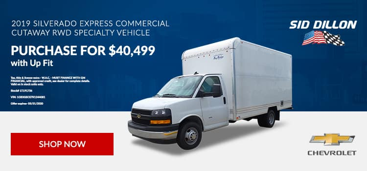 2019 Chevy Express Commercial Cutaway