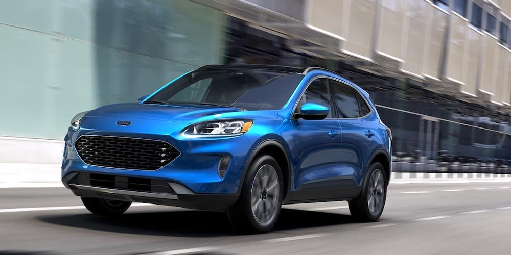Blue 2020 Ford Escape