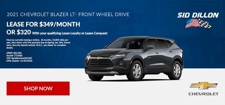 2021 Chevy Blazer Lease