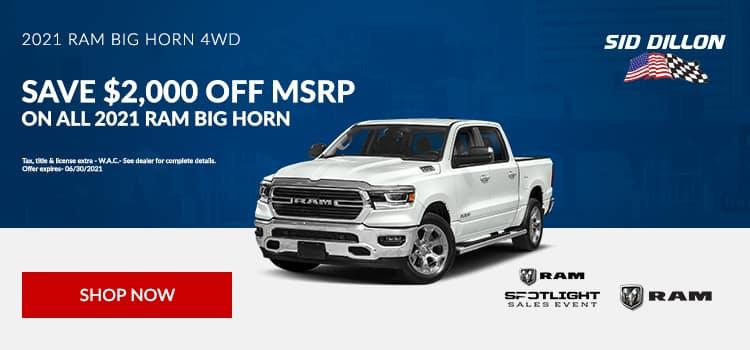 2021 RAM Big Horn 4WD