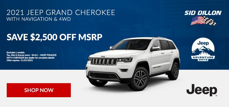 2021 Jeep Grand Cherokee With Navigation & 4WD