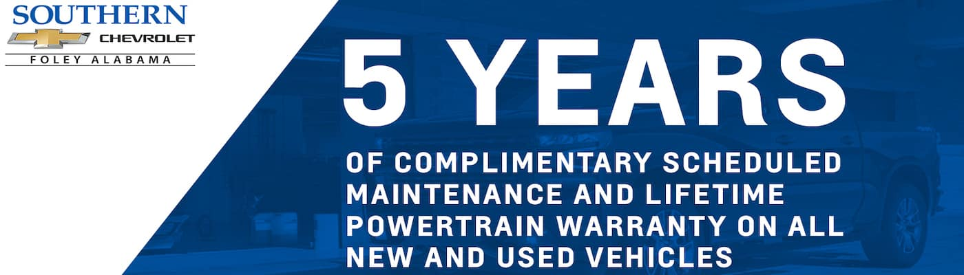 Southern Chevrolet 5 year maintenance