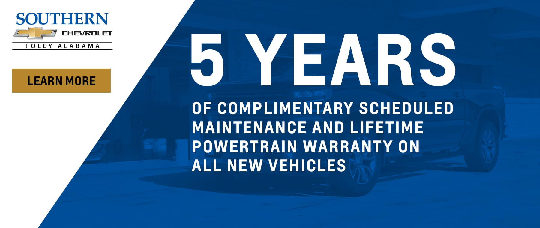 5 Years Free Maintenance Southern Chevrolet