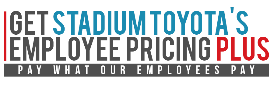 Stadium Toyota's Employee Pricing Plus Logo