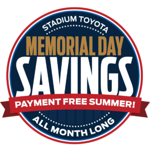 Memorial Day Payment Free Summer Sales Event Stadium Toyota