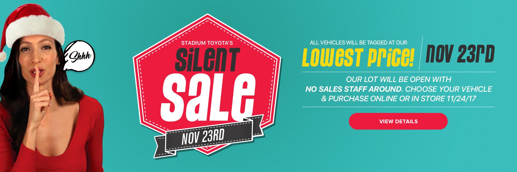 Stadium Toyota Silent Sale