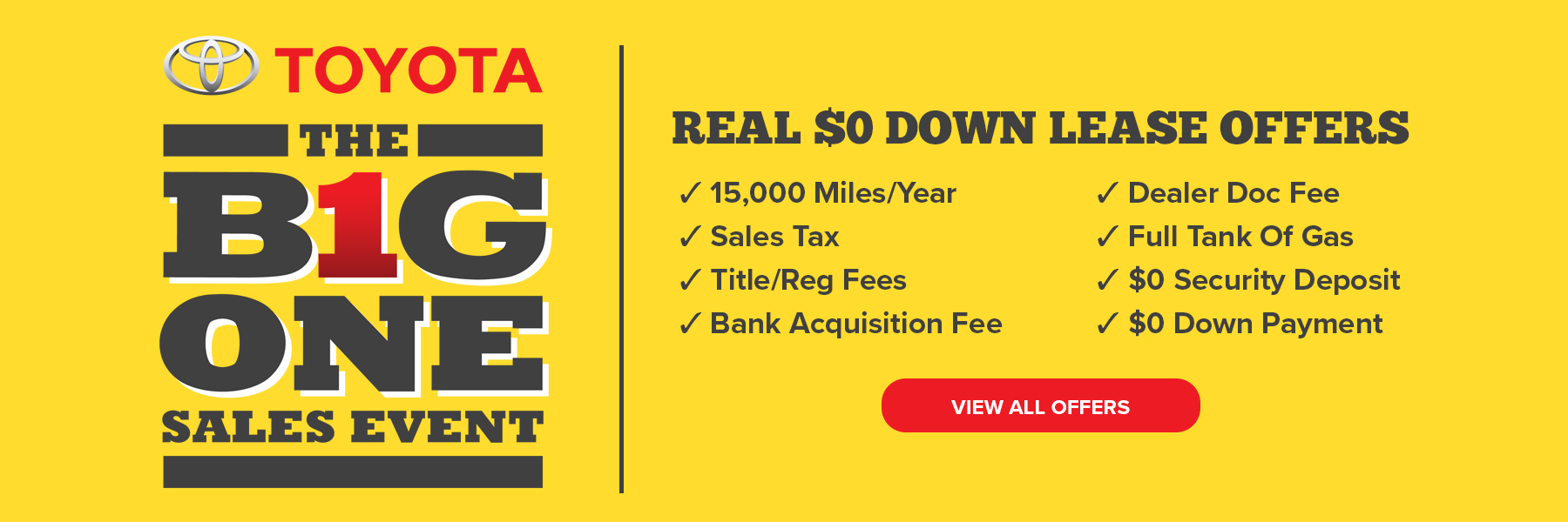 The Big One Sales Event