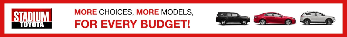 stadium toyota more models more choices for every budget