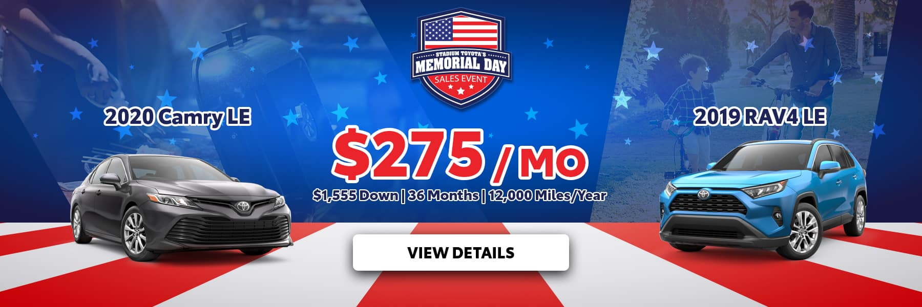 Memorial Day Camry RAV4 Offer