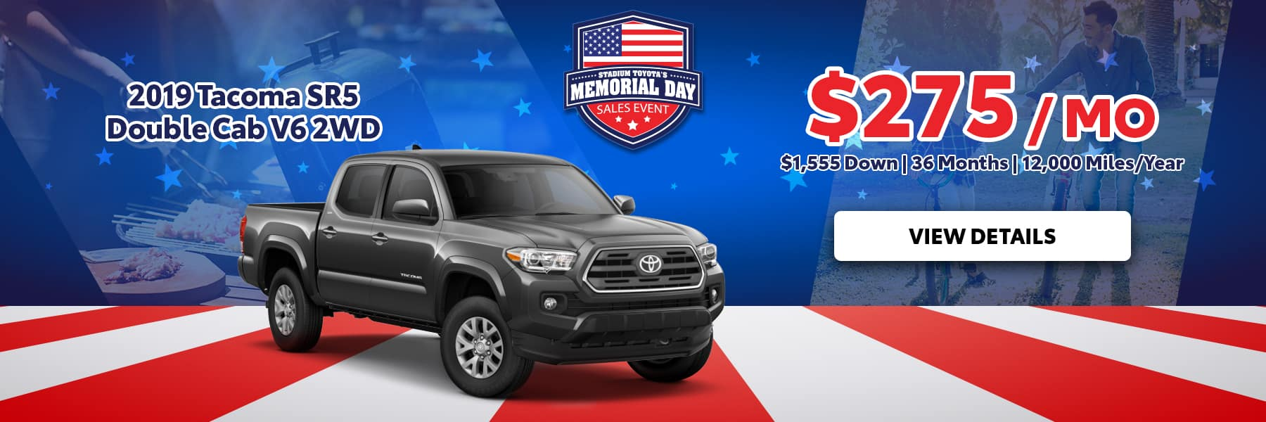 Memorial Day Tacoma Offer
