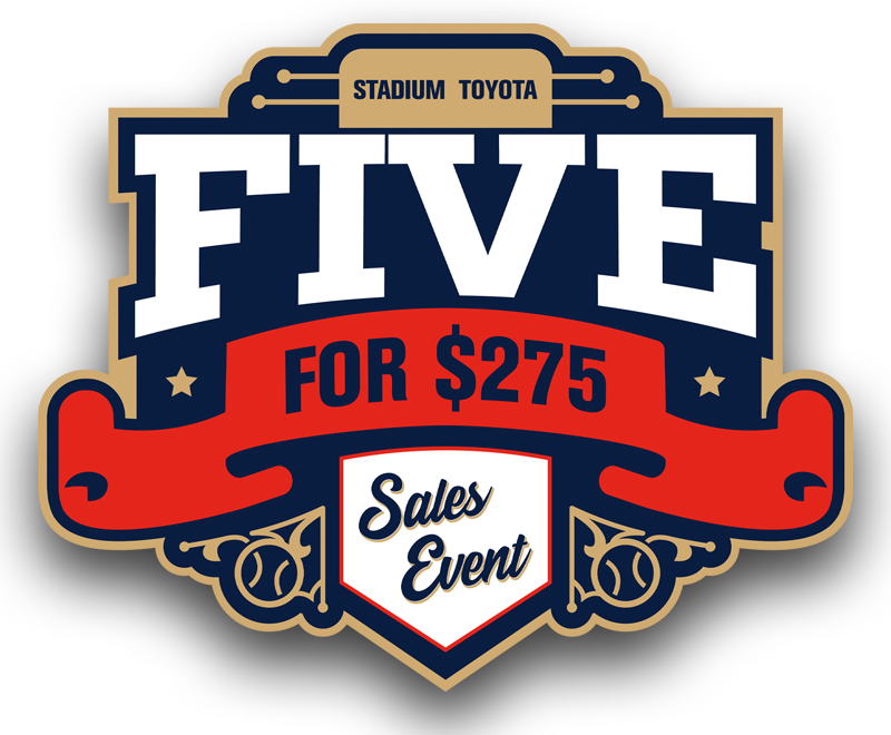 Stadium Toyota Five For $275 Sales Event