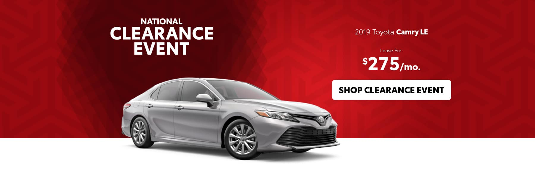 National Clearance Event Camry Offer