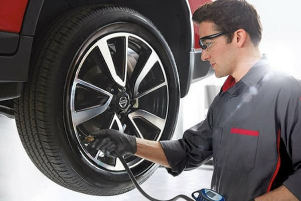 nissan tire inflation pressure check service