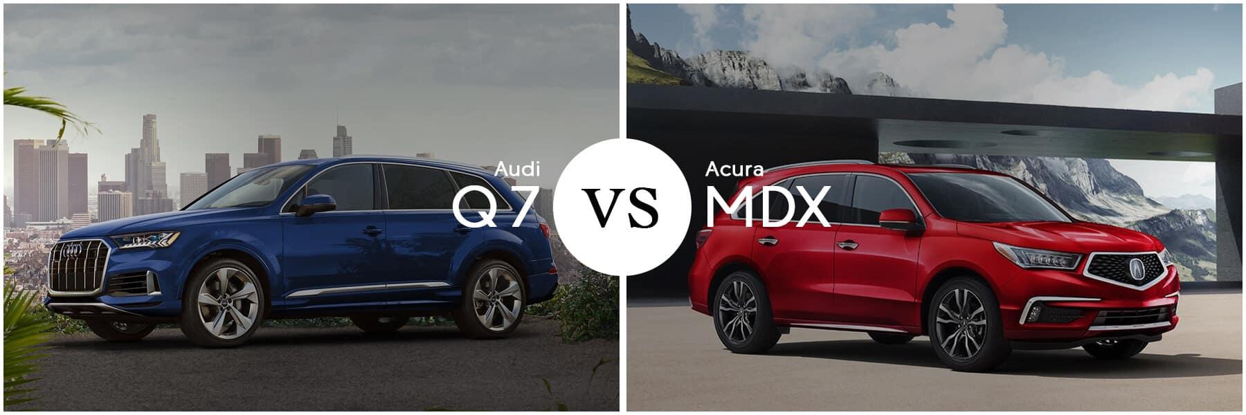 Acura MDX vs. Audi Q7 Slider