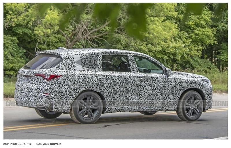 2022 Acura MDX Prototype Spy Photo