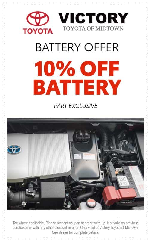 10% OFF BATTERY