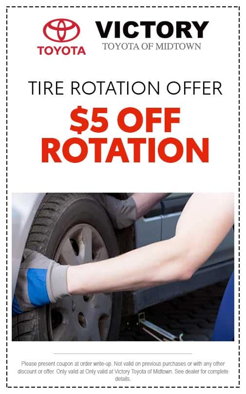 $5 off tire rotation