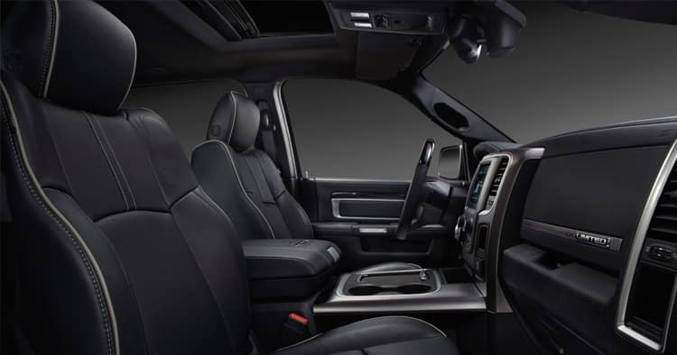 Interior of the 2018 Ram 2500