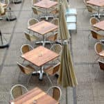 Dinning tables outside