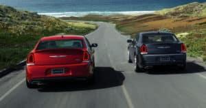 2018 Chrysler 300 red and black